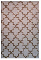 LA Rug Touch Two Tone Geometric Area Rug (2 by 8 Foot) 354-16