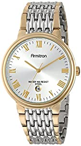 Armitron Men's 20/4985SVTT Date Calendar Dial Two-Tone Bracelet Watch