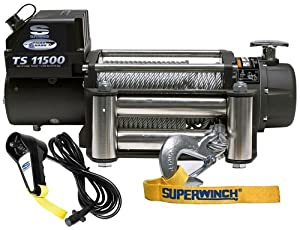 Superwinch 1511200 Tiger Shark 12V DC Winch with Roller Fairlead - 11,500 lbs. Capacity from Superwinch