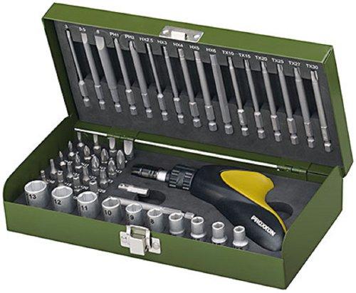 Proxxon, Set di cacciaviti 49 pz. con pistola a cricchetto; cacciaviti esagonali e inserti chiavi a pipa - 23105