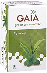 Gaia Green Tea Mint 25 tea bags