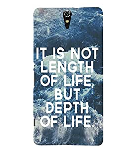 Evaluze quotes Printed Back Case Cover for SONY C5 ULTRA