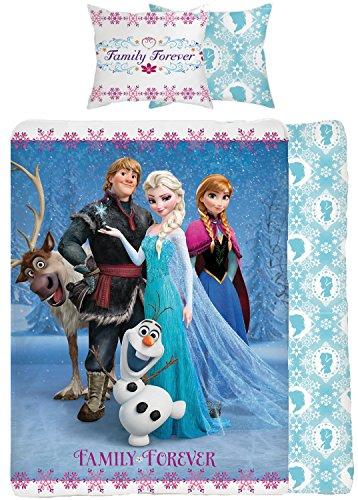 """Disney - Set copripiumino """"Family Forever"""" di Frozen per letto singolo"""