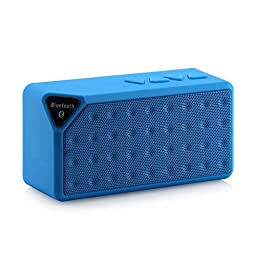 Tenflyer Mini Wireless Bluetooth Speaker X3 Support TF USB FM Handsfree Music Sound Box Subwoofer Loudspeakers with Mic (Blue)