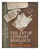 Art of Literary Research (0393092275) by Altick, Richard D.