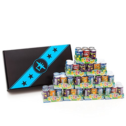 60 Kidsmania Soda Can Fizzy Candy, Variety in a Bomber Gift Box (Fizzy Candy Soda compare prices)