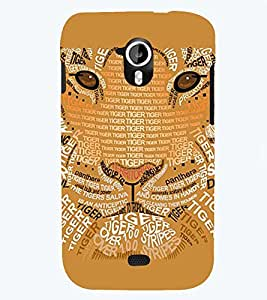 PRINTSWAG TYPOGRAPHY LION Designer Back Cover Case for MICROMAX A116 CANVAS HD