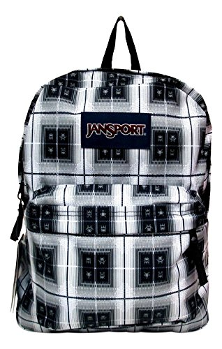 Jansport Superbreak Backpack! (Black Arcade Plaid)
