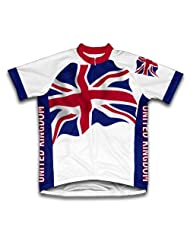 United Kingdom Flag Short Sleeve Cycling Jersey for Women