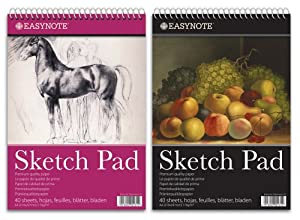 EasyNote A4 artists sketch pad - 170g cartridge paper