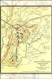 "Gettysburg Topographical Map, Battle of Gettysburg - 24""x36"" Poster"