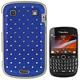 Rocina diamond Bling case cover in blue for BlackBerry 9900 Bold