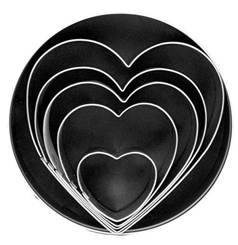 Fox Run Heart Cookie Cutter Set, 5-Piece (Heart Cutters compare prices)