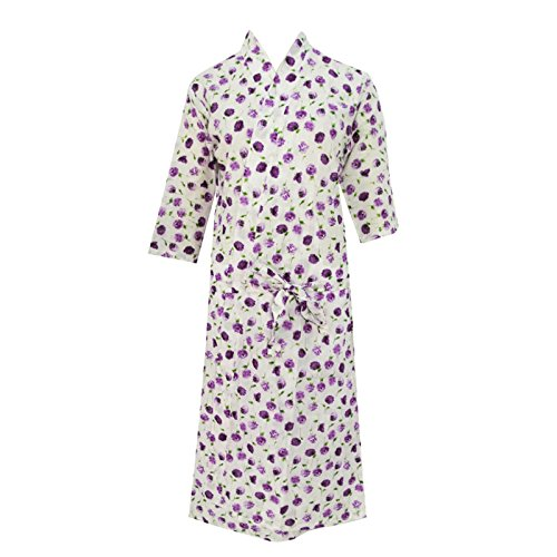 Robes Kimono Cotton Floral Crossover Robe Bridesmaid Gift Wrap Casual front-1017261