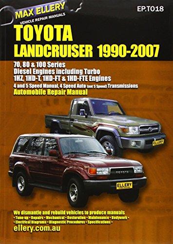 Toyota Landcruiser 1990-2007 Automobile Repair Manual: Diesel Engines including Turbo (Toyota Landcruiser Repair Manual compare prices)