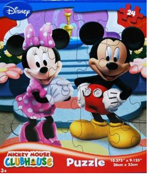 Cheap Fun Disney Mickey Mouse Clubhouse 24-Piece Jigsaw Puzzle (Mickey and Minnie by the Fountain) (B00394TDMK)