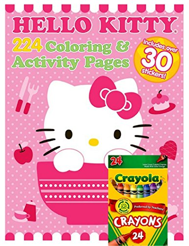 Hello Kitty Coloring Pages With Crayons : Hello kitty giant page coloring and activity book with
