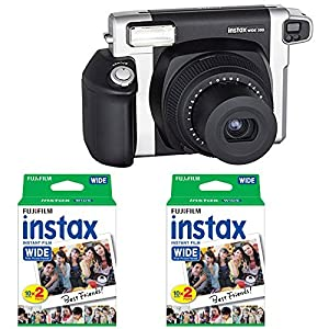 Fujifilm INSTAX Wide 300 Instant Camera With FFujifilm Instax Wide Instant Film Twin Pack Instant Film (40 Shots) With Photo4less Microfiber Cleaning Cloth Top Bundle