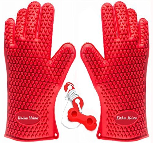 kitchen-meister-silicone-oven-bbq-pot-holder-glove-set-set-of-2-red