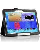 IVSO Slim-Book Etui Housse pour Samsung Galaxy Tab Pro 10.1 Tablette avec Auto Endormir/Réveiller Fonction (Noir)