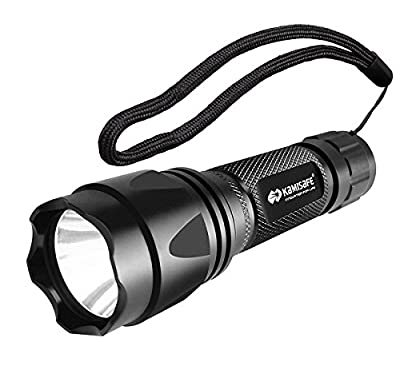 Kamisafe Waterproof Tactical LED Flashlight,Torch Light,Cree,XML,Q5,Outdoor,5 Modes,18650 Battery,For Hiking, Camping, Emergency