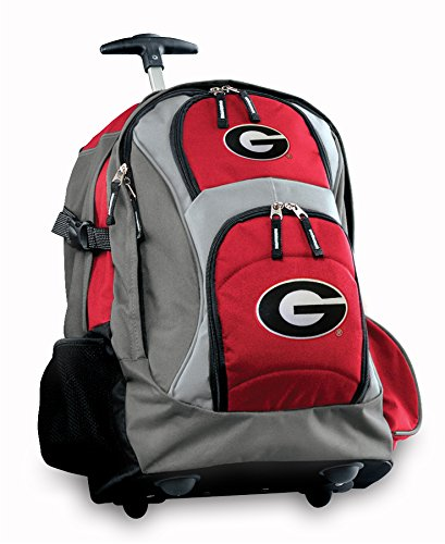 Georgia Bulldogs Rolling Backpack Deluxe Red University Of Georgia Uga Backpack