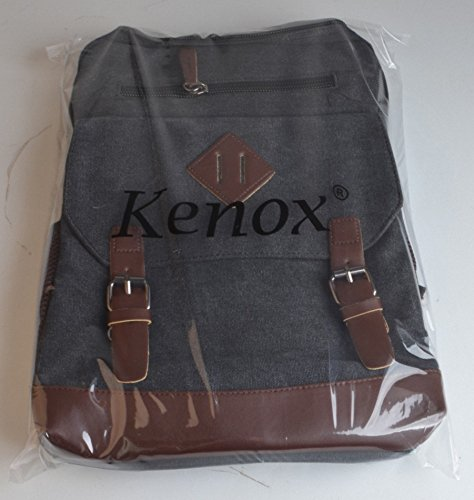 Kenox Mens Large Vintage Canvas Backpack School Laptop Bag Hiking Travel Rucksack 5