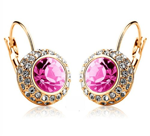 Swarovski Crystal Diamond Accent Earrings-SE3300