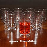 Case of 120 - Small 4 ounce Disposable Plastic Pedestal Glasses - Mini Desert Cups
