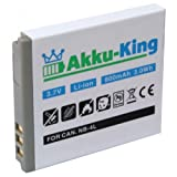 Akku-King Battery compatible with Canon NB-4L / PL46G Li-Ion Digital IXUS 70 / 75 / 100 IS / 110 IS / 120 IS / 220 HS - 800mAh