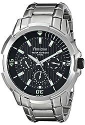 Armitron Men's 20/5014BKSV Multi-Function Black Dial Silver-Tone Bracelet Watch