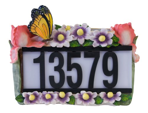 Tricod D5003 Solar House Number Light With Butterfly And