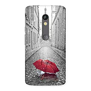 Special Tower Red Umbrella Multicolor Back Case Cover for Moto X Play