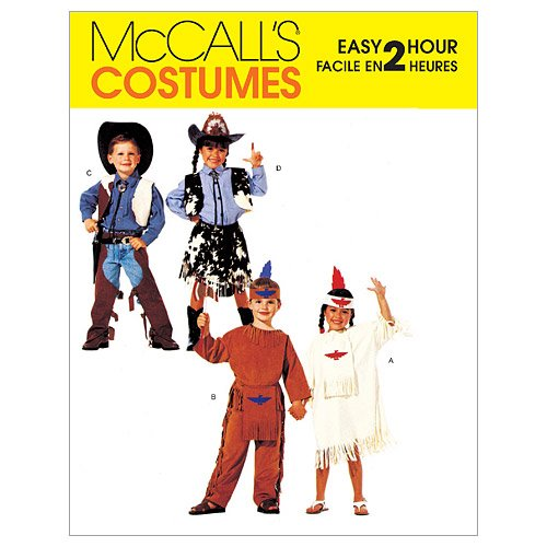 Mccall'S Patterns M2851 Children'S, Boys' And Girls' Cowboys And Indians Costumes, Size (7-8)