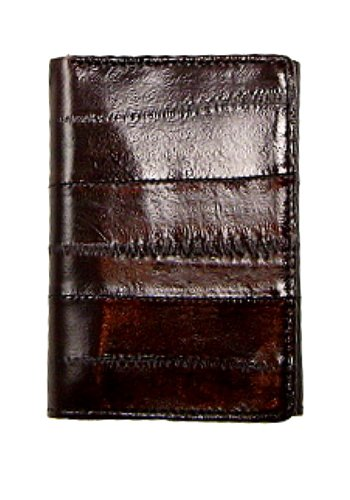 Eel Skin Trifold Wallet from Marshal Style – BROWN