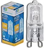 10 x G9 25w Clear Halogen Lamps Light Bulbs 240v by Long Life Lamp Company