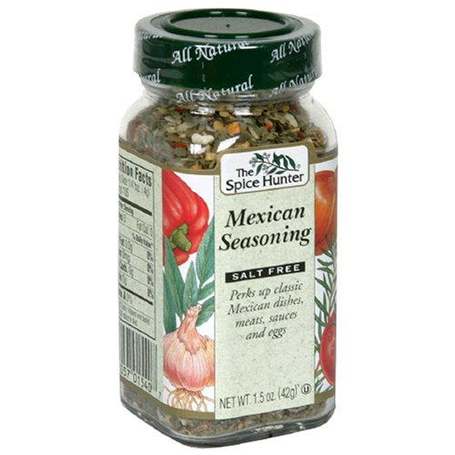 Spice Hunter Mexican Seasoning, Salt Free, 1.5-Ounce Unit (Pack of 6)