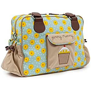pink lining yummy mummy diaper bag sunflowers baby. Black Bedroom Furniture Sets. Home Design Ideas