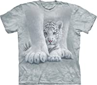 The Mountain Unisex Kind Besch�tztes wei�es Tigerbaby TShirt von The Mountain