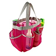 7 Pocket Shower Caddy Tote (Pink)