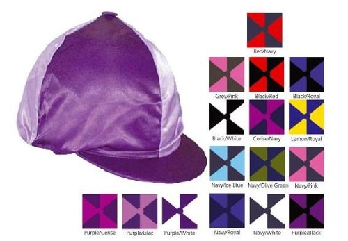 Helmüberzug aus Lycra in 2- Farben- Optik: Pink, Lila, Blau etc.
