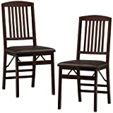 Two Wooden Folding Mission Style Chairs