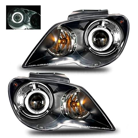 SPPC Projector Headlights Black (Hid Compatible& CCFL Halo) For Chrysler Pacifica - (Pair) - Chrysler Pacifica Headlight Replacement