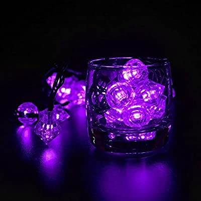 LED SopoTek 4.8meters 20Led bulbs Purple Color 8Modes Solar powered Led Christmas Lights Diamond Shaped Globe Lighting Waterproof Outdoor Lights solar Fairy String Lights Ideal for Patio, Garden, Lawn, Gate, Yard (20LED Purple Color)