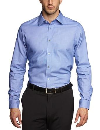ESPRIT Collection Herren Slim Fit Businesshemd 034EO2F005, Gr. Kragenweite: 39 cm (Herstellergröße: 3940), Blau (BUSINESS BLUE)