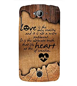 Reality Of Love Quote 3D Hard Polycarbonate Designer Back Case Cover for Acer Liquid Zade Z530 : Acer Liquid Zade Z530S