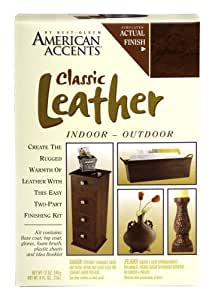 Rust-Oleum 7987955 2-Part Decorative Finishes Half Pint and Spray Kit, Classic Leather