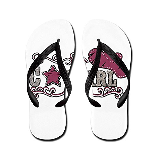 Royal Lion Kid's Cowgirl Country Western Hat and Star Rubber Flip Flops Sandals