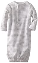 Kushies Unisexbaby Newborn Everyday Mocha Layette Gown, White Dots, 3-6 Months