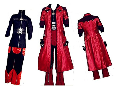Devil May Cry IV 4 Dante Cosplay Costume + free Wig (Devil May Cry Dante Cosplay compare prices)